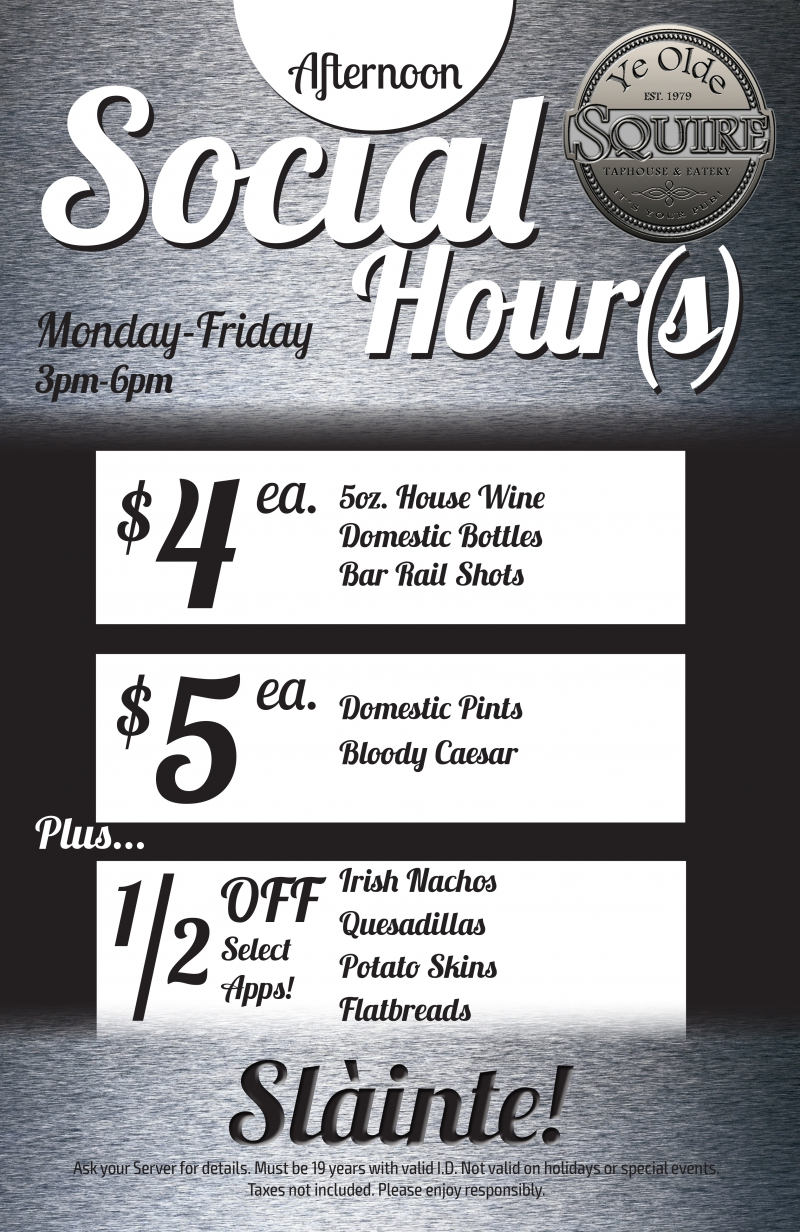 social hour prices