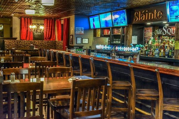 bar and televisions