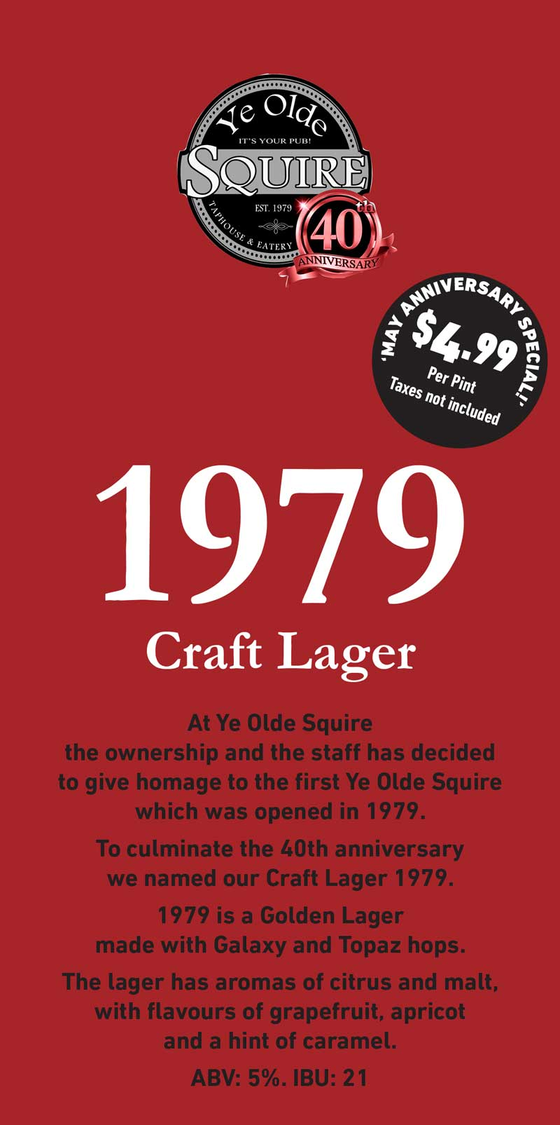 1079 Craft Lager Special