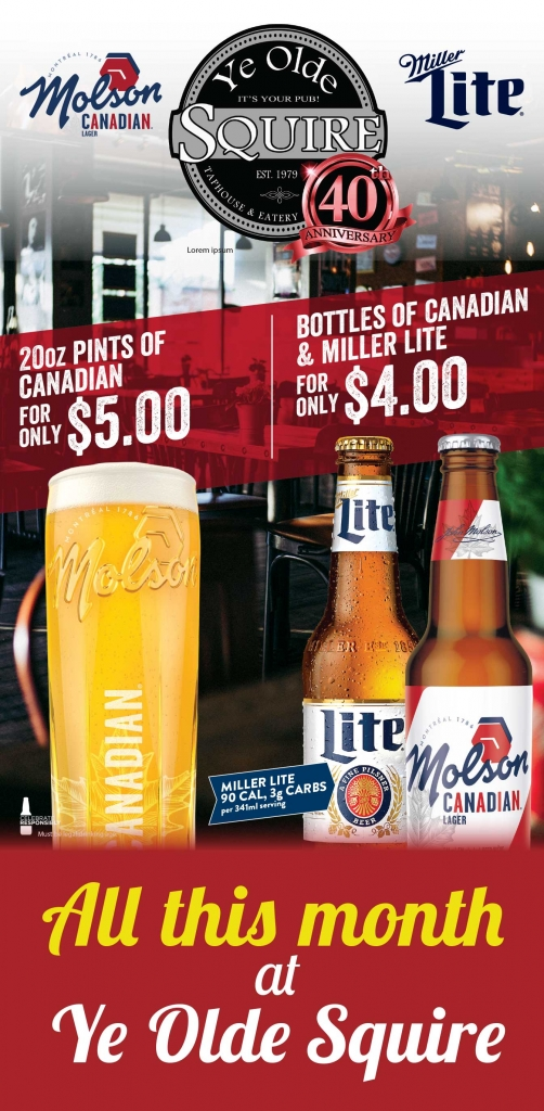 Molson Candian and Miller Lite June Special