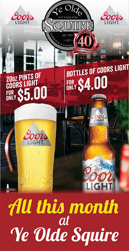 Coors Light July Specials