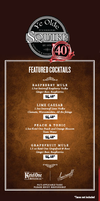 Featured September Cocktails